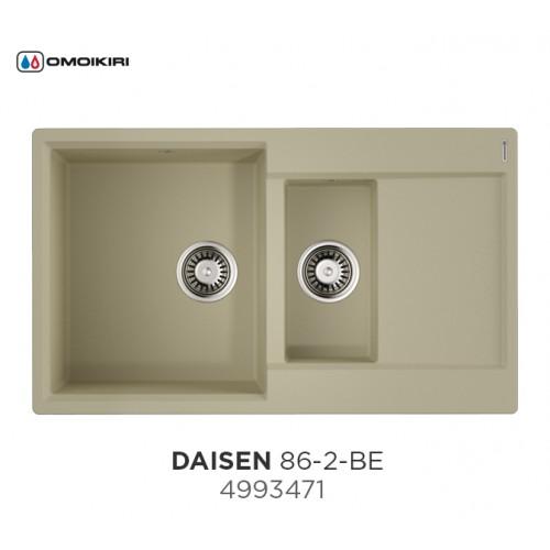 Кухонная мойка Omoikiri Daisen-86-2-BE
